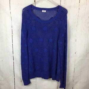 Madewell Wallace | Open Knit Polka Dot Sweater